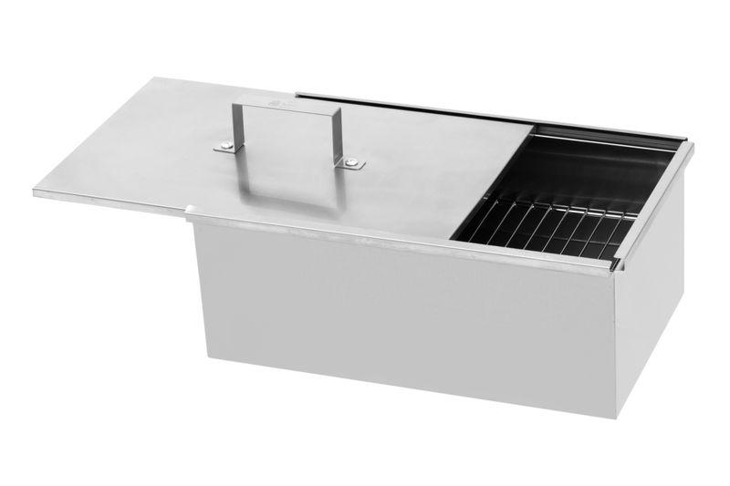 MUSTANG Räucherbox 40 x 25 x 16cm   Smokerbox   Räucherschrank   Edelstahl poliert   Finnland