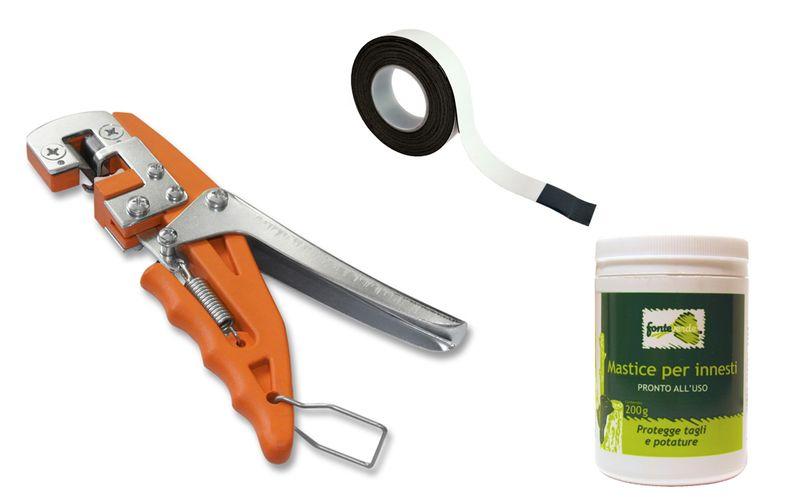 Gartenpaul Set: Veredelungsschere Veredelungszange Premium inkl. 5m Veredelungsband und Baumwachs
