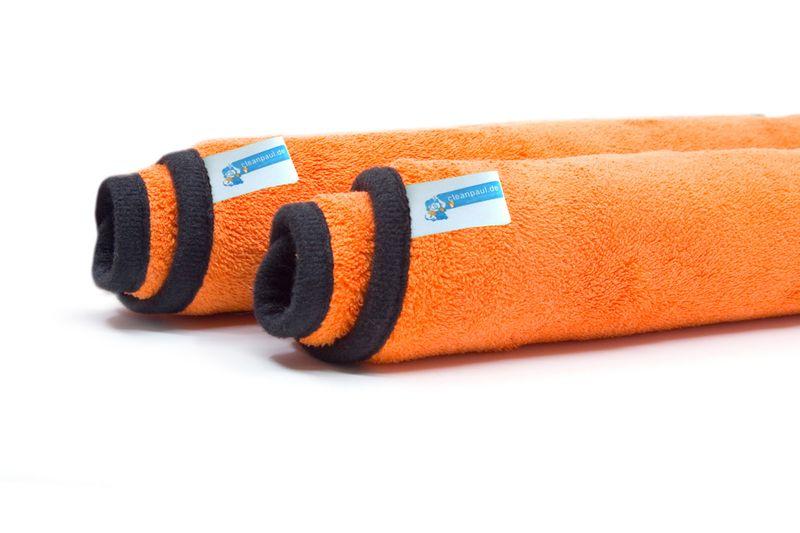Cleanpaul 2er Set Reinigungstücher   Mikrofasertücher Orange   30 x 30cm