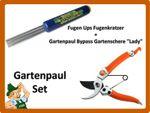 """Gartenpaul Set: Fugen Ups Fugenkratzer + Gartenpaul Bypass Gartenschere """"Lady"""""""