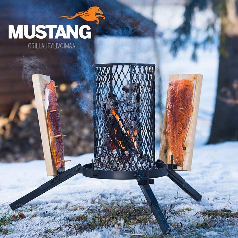 Mustang Flammlachs Grill   Feuerkorb   Flammlachsgrill   3x Flammlachsbretter + 20 Holzstifte   Finnland