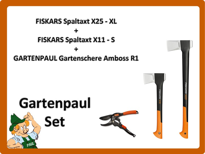 gartenpaul set fiskars spaltaxt x25 xl fiskars. Black Bedroom Furniture Sets. Home Design Ideas