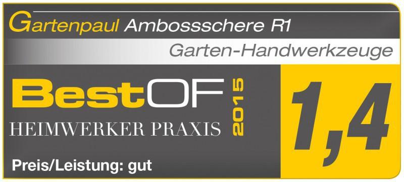 Gartenpaul Set: Gartenpaul Amboss Gartenschere R1 Rollschere + WD-40 100ml Dose
