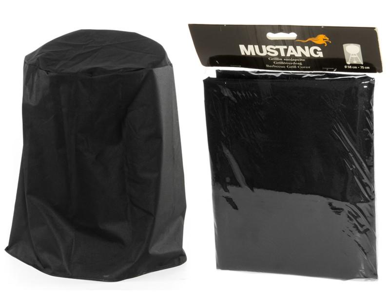 Mustang Grillabdeckung Ø 58 x 75cm Grillhaube Abdeckhaube Gasgrill Schutzhülle Haube Abdeckung schwarz Finnland