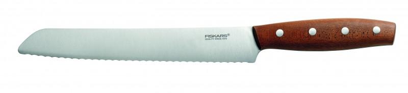 Fiskars NORR | Brotmesser | Sägemesser | Klingenlänge 21cm | HRC 54-55