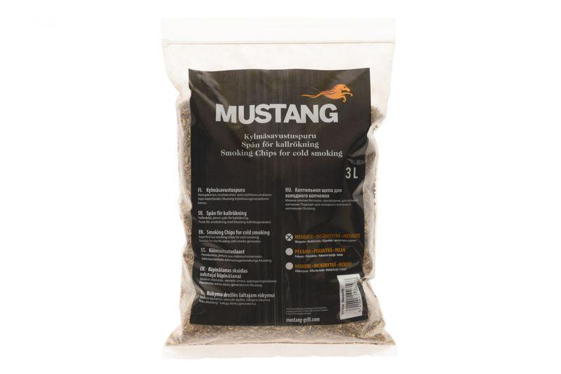 Grillpaul Mustang Räuchermehl Mesquite | Körnung 0,4 -1 mm | Räucherspäne | Räucherchips | 3 Liter Sack | 955g