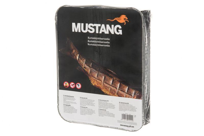 Mustang Einweg Räucherbox | mobiler Kaltrauchgenerator | 315x253x55mm | 70 Räucherchips Erle | Finnland